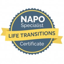 NAPO Specialist Life Transitions Certificate badge