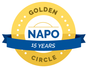 NAPO Golden Circles 15 years badge