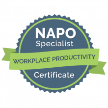 NAPO Specialist Workplace Productivity Certificate badge